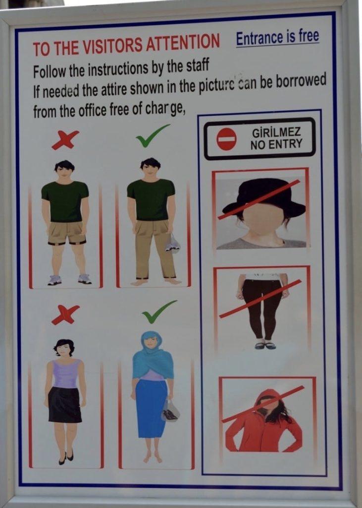 Pravila za ulazak u džamije